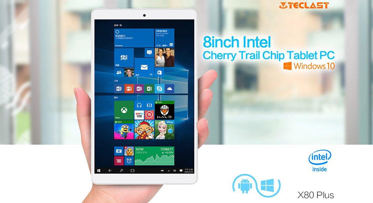 Планшет Teclast X80 Plus с Windows 10 и Android 5.1 стоит чуть более $90