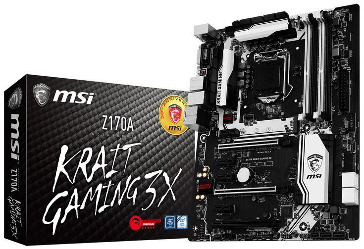 Системная плата MSI Z170A Krait Gaming 3X содержит порт USB-C 3.1