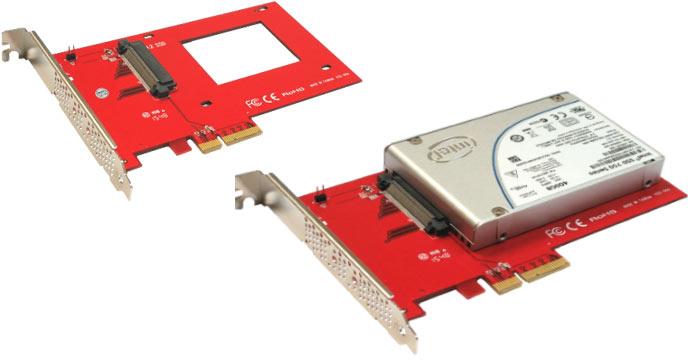 Addonics выпускает семейство переходников для подключения SSD NVMe типоразмера 2,5 дюйма с разъемом U.2