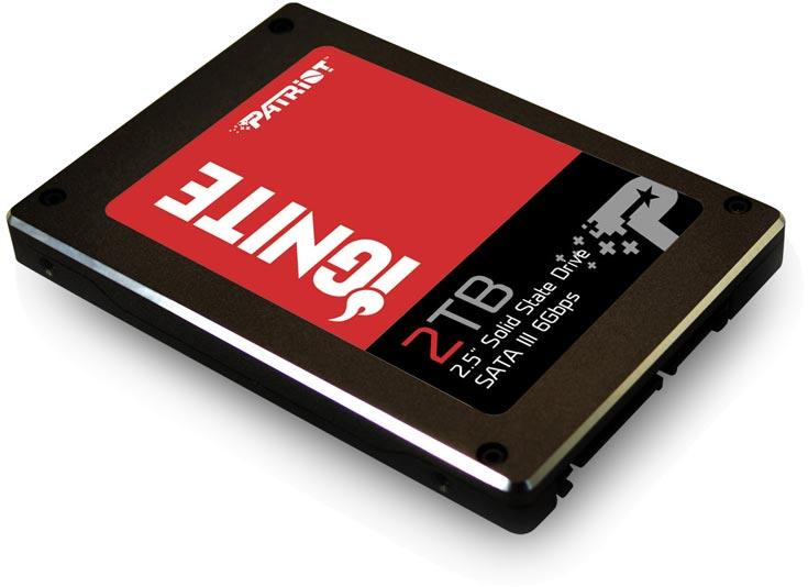 В продаже SSD Patriot Ignite объемом 2 ТБ должны появиться в четвертом квартале