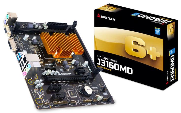 К достоинствам платы Biostar J3160MD производитель относит технологию Charger Booster