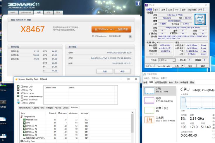 Процессор Intel Core i7-7700K при разгоне оказывается очень горячим