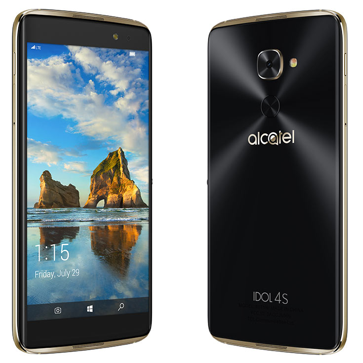 Представлен флагман Alcatel Idol 4S на Windows 10 Mobile