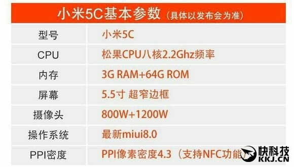 Xiaomi Mi5C снабдят процессором Pinecone собственного производства компании