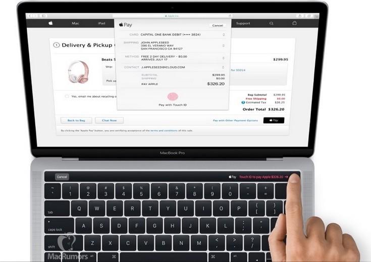 Представлены ноутбуки MacBook Pro 2016