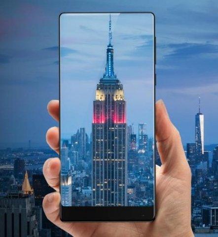 Смартфон Xiaomi Mi Mix выделяется на фоне конкурентов отсутствием рамок с трех сторон дисплея