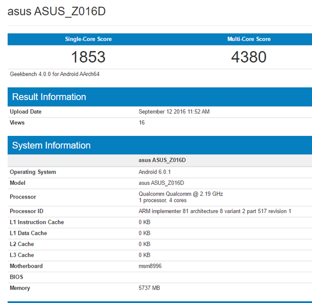SoC Snapdragon 821 засветился в базе Geekbench