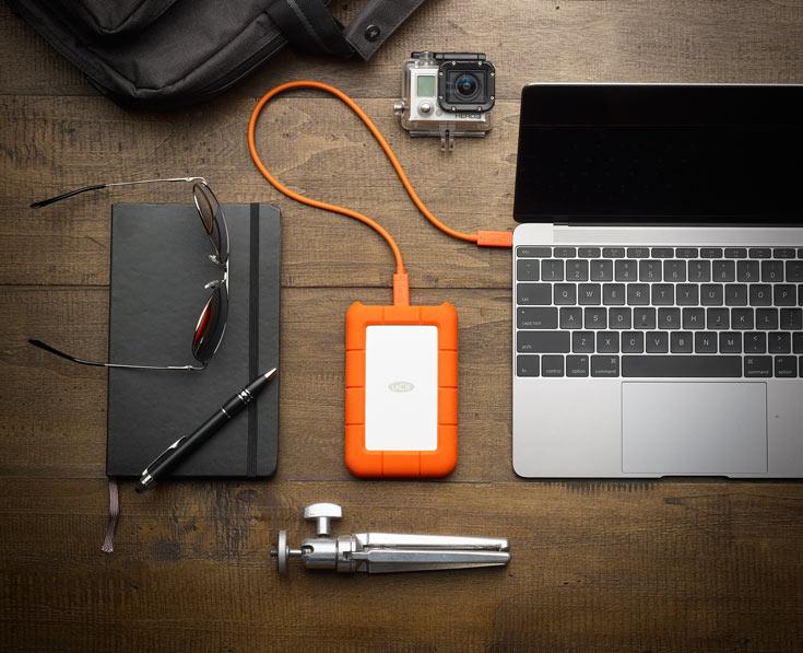 Накопитель LaCie Rugged USB-C предложен объемом 1, 2 и 4 ТБ