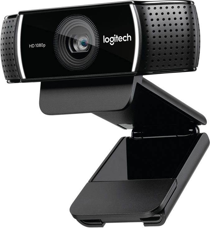 Камера Logitech C925e Pro Stream Webcam оснащена двумя микрофонами и способна компенсировать мерцание источников освещения