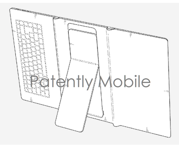 Самсунг запатентовал необыкновенный складывающийся планшет