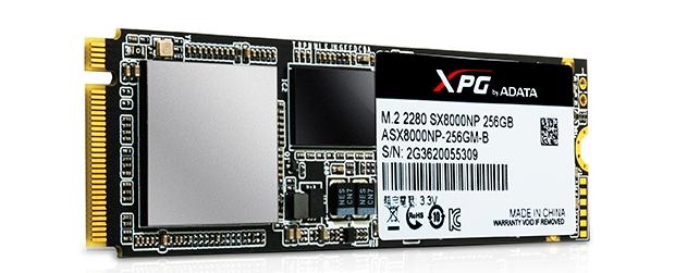 SSD Adata XPG SX8000 имеют интерфейс PCIe
