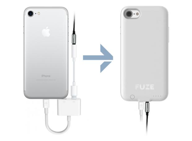 Представлен чехол для iPhone 7 спереходником для обычных наушников