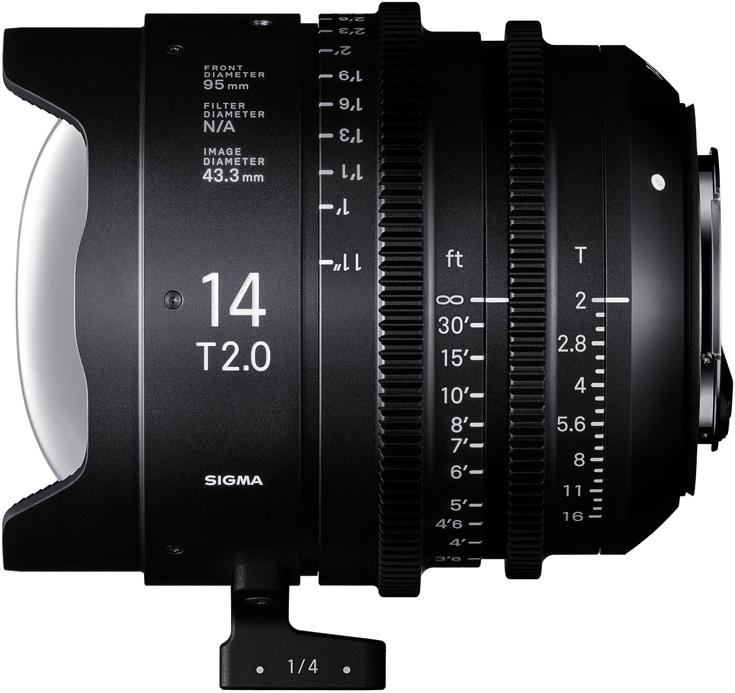 Объективы Sigma Cine 14mm T2 и Cine 135mm T2 предназначены для видеосъемки