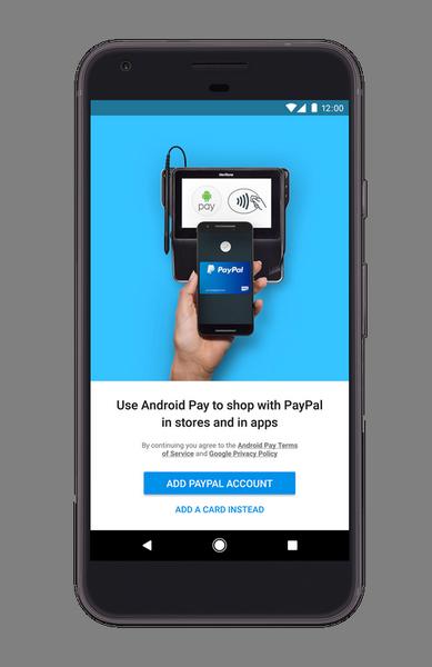 Android Pay позволит привязывать аккаунты PayPal