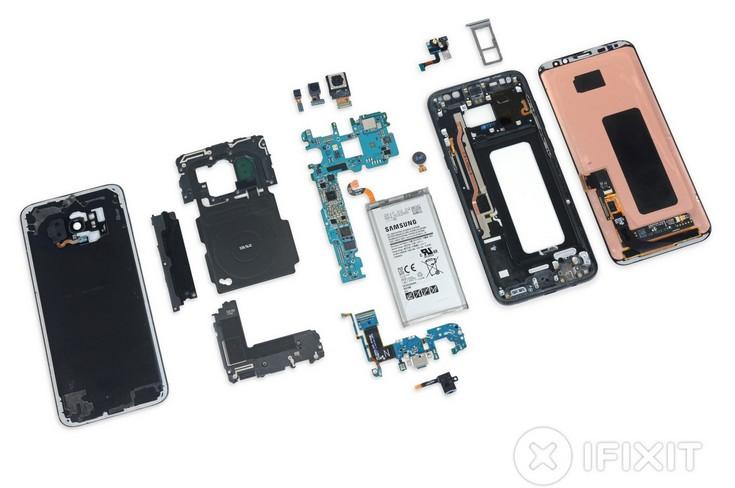 Смартфон Samsung Galaxy S8+ не слишком пригоден к ремонту