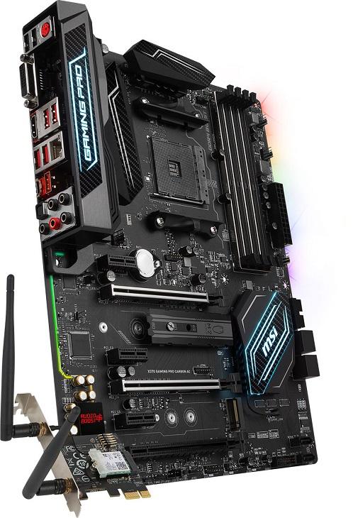Сетевая часть платы MSI X370 Gaming Pro Carbon AC базируется на контроллерах Intel