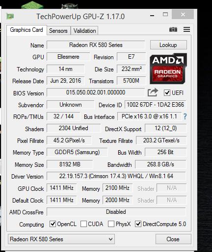 После прошивки BIOS Radeon RX 480 превращается в RX 580