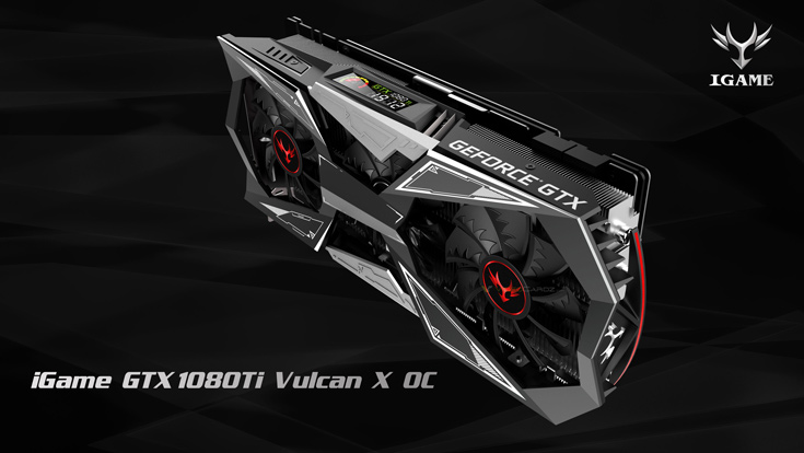 3D-карта Colorful iGame GTX 1080 Ti Vulcan X OC занимает в корпусе три посадочных места