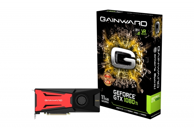 3D-карта Gainward GeForce GTX 1080 Ti Golden Sample не отличается от референсного образца