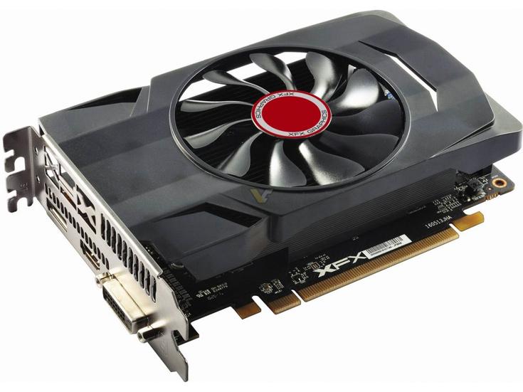 Одновременно представлены два варианта модели XFX RX 550 Core Edition