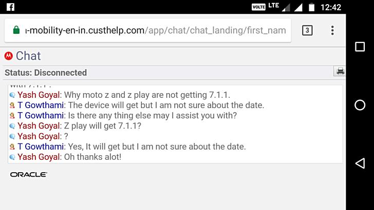 К сожалению, пока неизвестно, когда выйдет обновление Android 7.1.1 для Moto Z Play
