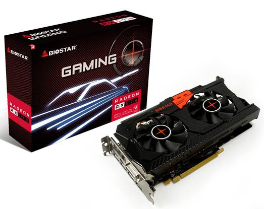 Biostar подготовила свои варианты 3D-карт семейства AMD Radeon RX500