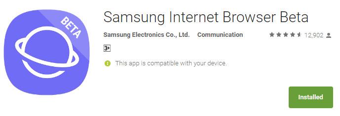 Бета-версия интернет-браузера Samsung доступна для смартфонов с Android