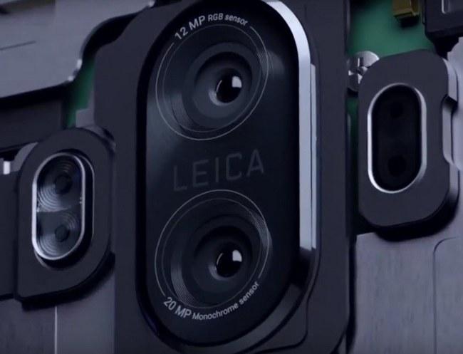 Рекламный ролик телефона Huawei Mate 10 сфокусирован насдвоенной камере Leica
