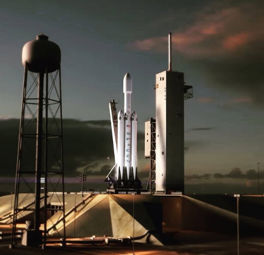 SpaceX опубликовала видеоролик, который демонстрирует запланированный сценарий полета ракеты-носителя Falcon Heavy