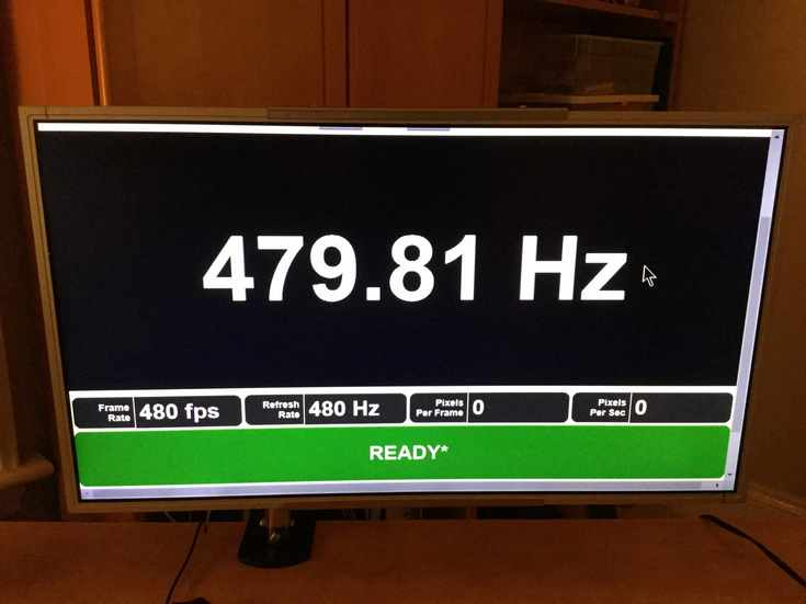Мониторы с кадровой частотой 480 Гц уже существуют в виду прототипов