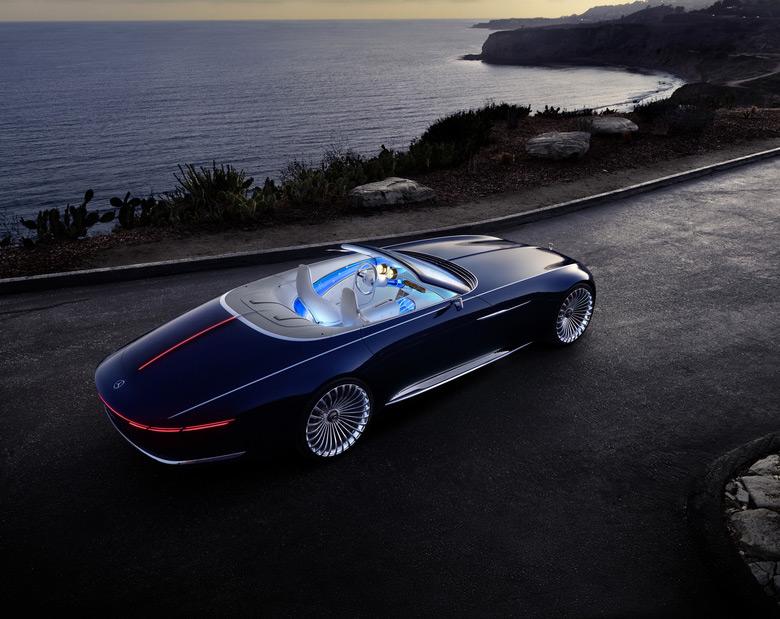 Новый роскошный Mercedes-Maybach 6 Cabriolet представили вПеббл-Бич
