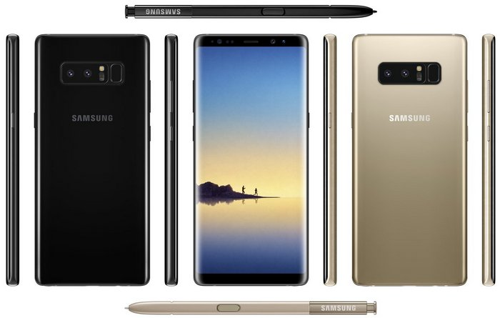 Официальные изображения смартфона Samsung Galaxy Note 8 подтверждают местоположение дактилоскопического датчика