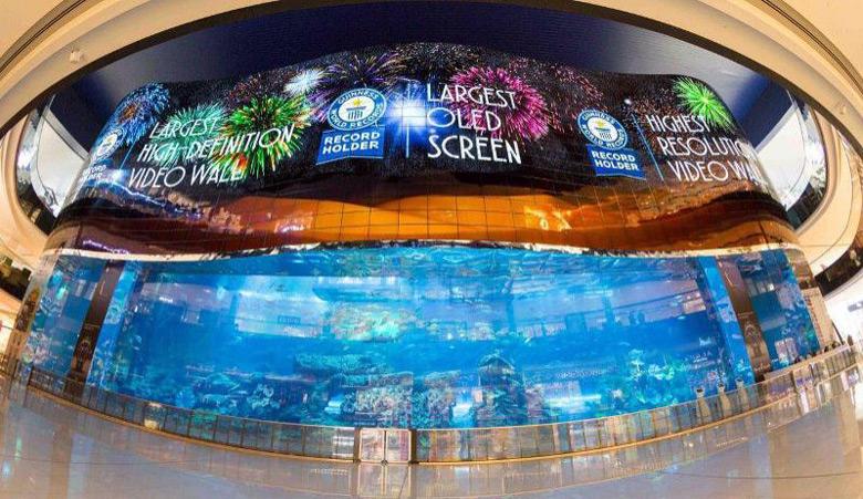Видеостена состоит из 820 панелей производства LG Display