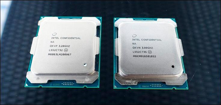 Базовая частота CPU Core i9-7980XE равна всего 2,6 ГГц