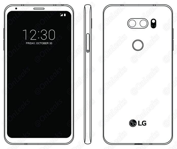 На новом изображении смартфон LG V30 выглядит новой версией LG G6