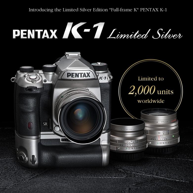 Всего планируется выпуск 2000 серебристых камер Pentax K-1