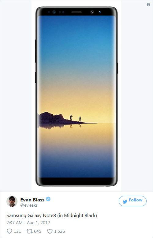 Анонс Galaxy Note8 ожидается 23 августа