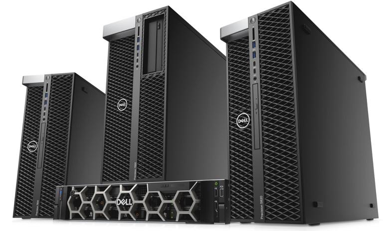 Список новых моделей Dell Precision включает настольные рабочие станции Dell Precision 5820 Tower, Precision 7820 Tower и Precision 7920 Tower