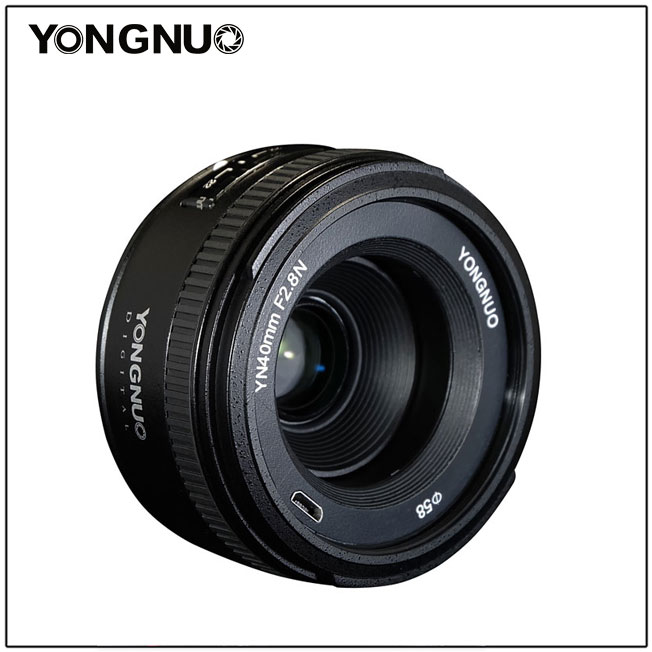 Объектив Yongnuo YN 40mm f/2.8N поддерживает ручную и автоматическую фокусировку