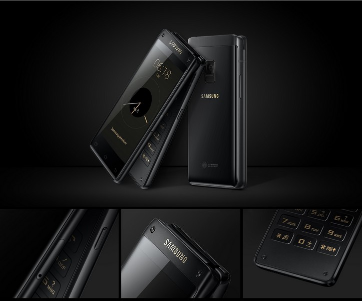 Смартфон Samsung Leadership 8 представляет собой раскладушку
