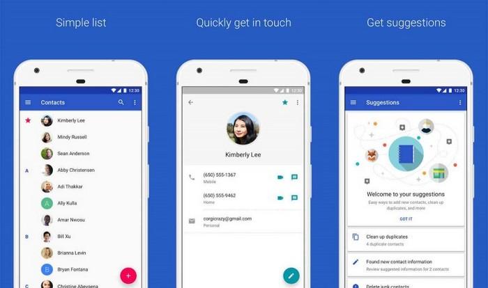 Приложение Google Contacts стало доступно на всех смартфонах с Android 5.0 и новее