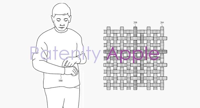 В ремешки для часов Apple Watch из «умной ткани» будут встроены органы управления