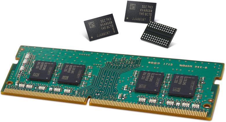 Самсунг запустила производство чипов DRR4 с10-нм технологией 2-го поколения