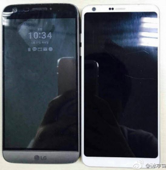 Опубликована фотография, на которой рядом запечатлены смартфоны LG G6 и LG G5