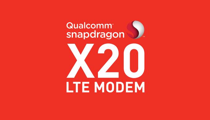 Qualcomm Snapdragon X20 LTE— модем соскоростью передачи данных 1,2 Гбит/с