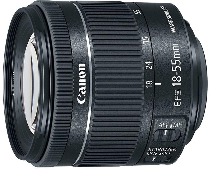 Объектив Canon EF-S 18-55mm F4-5.6 IS STM почти на 20% короче своего предшественника