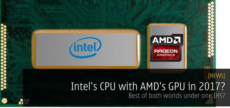 Intel ещё до конца года выпустит процессор с GPU, использующим технологии AMD