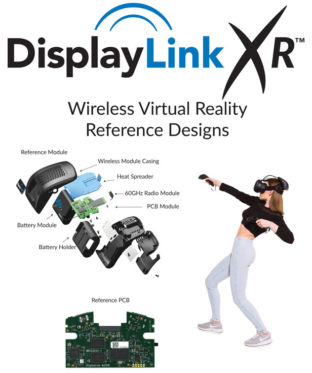 У DisplayLink готов референсный дизайн гарнитуры VR с беспроводным подключением на частоте 60 ГГц