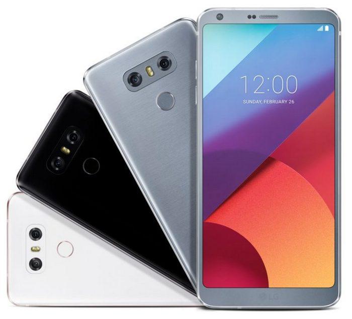 Смартфон LG G6 предстал на изображении во всех доступных цветах