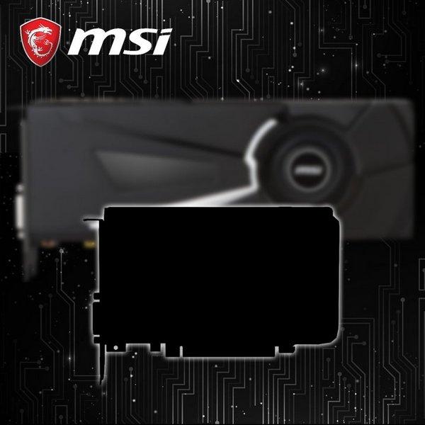 MSI дразнит рекламным изображением какой-то компактной видеокарты на основе GPU Nvidia